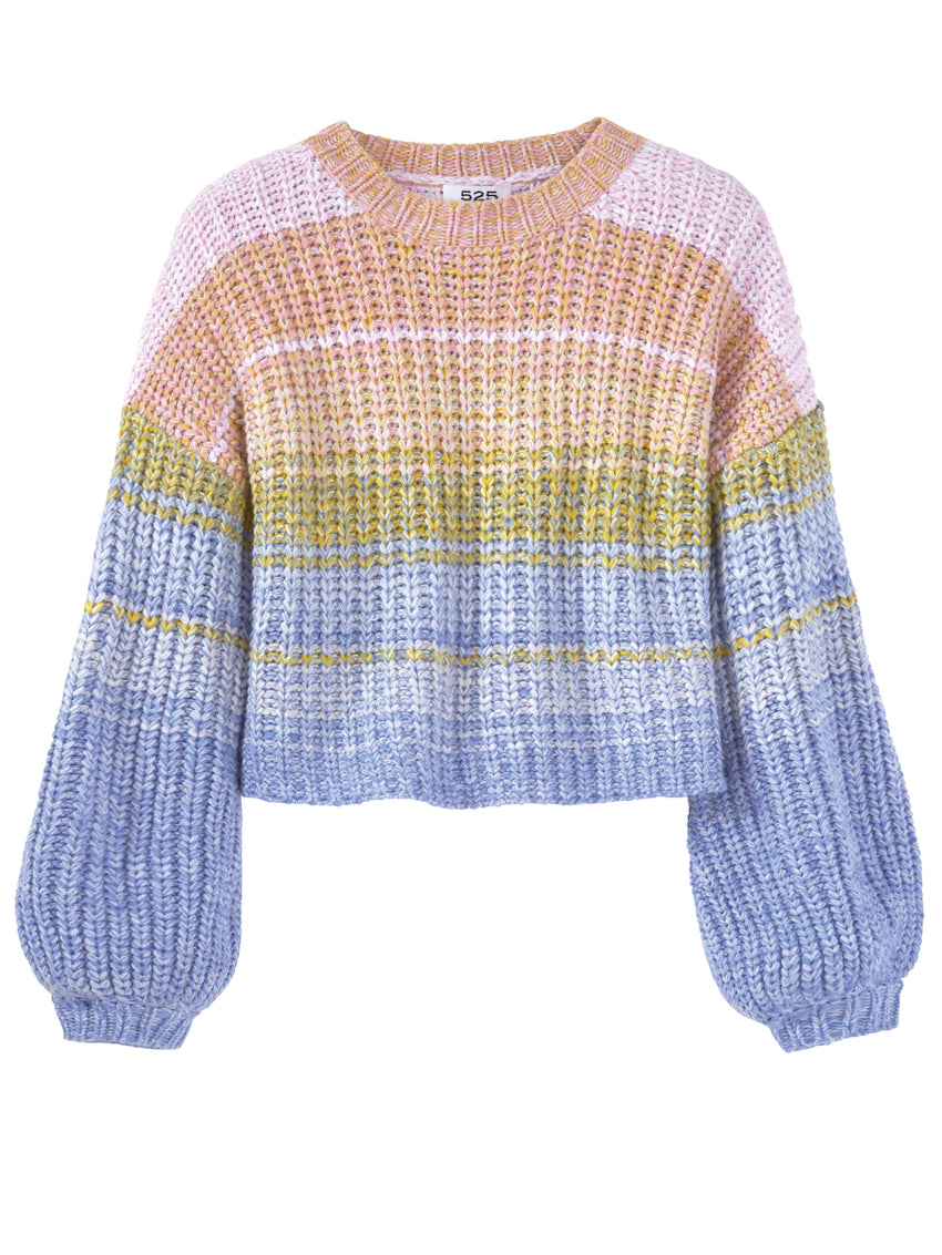 Multi Rainbow Long Sleeve Sweater