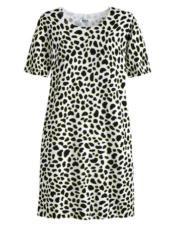 Cheetah Print Crewneck Dress