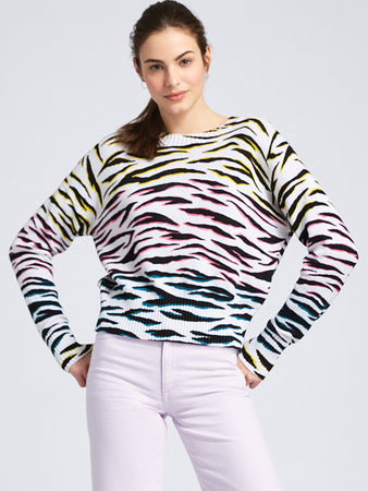 Animal Print Crewneck Sweater