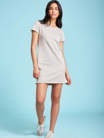 Round-Neck French Terry Dress