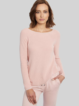 Ballet Neck Cotton Shaker Sweater
