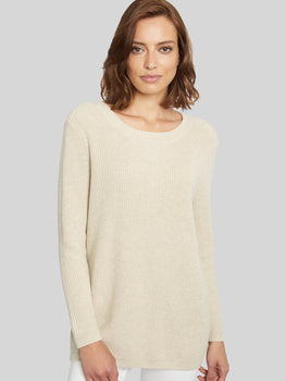 Lace-Up Back Cotton Shaker Tunic