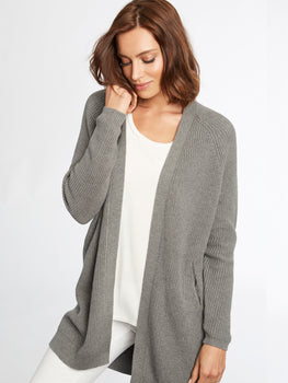 Cotton Shaker Balloon Duster Cardigan