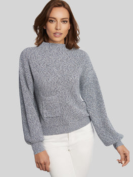 Cotton Shaker Hip Pocket Sweater