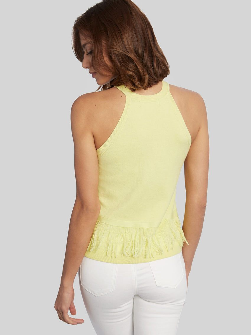 Fringed Cotton Halter Tank