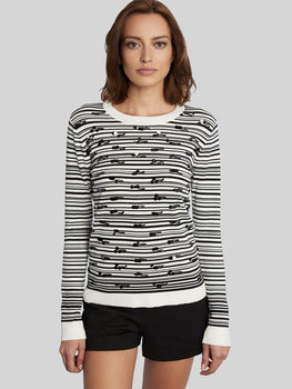 Sequin Stripe Crewneck