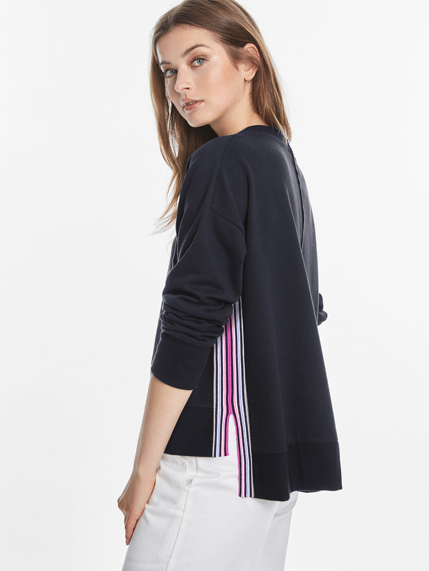 Rainbow Stripe Oversized Top