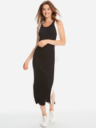 Side Stripe Maxi Tank Dress