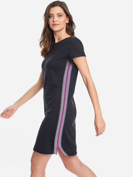 French Terry Rainbow Stripe T-shirt Dress