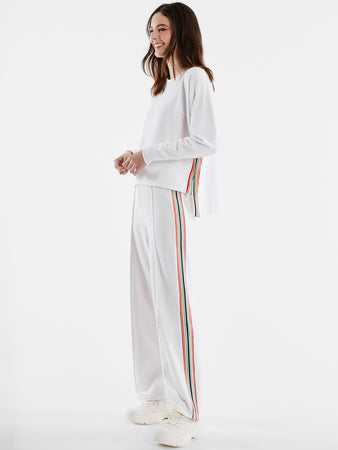 French Terry Rainbow Stripe Pants