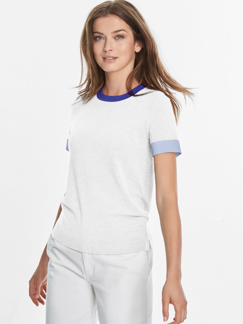 Colorblock Ringer Tee Sweater Top
