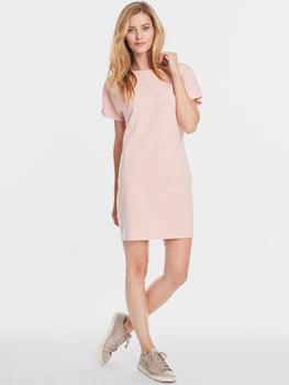 Cotton French Terry Short Sleeve T-Shirt Dress
