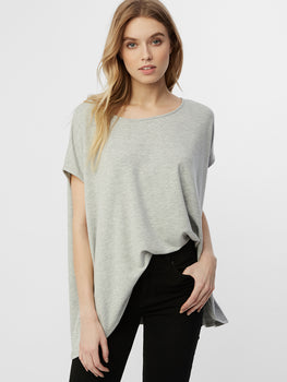 Micro French Terry Cap Sleeve Swing Top