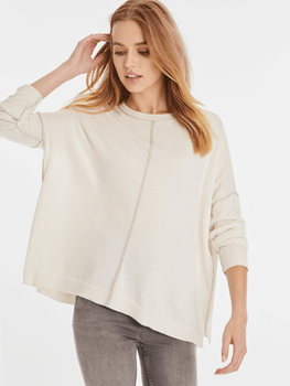Cotton Cashmere Tipped Sweater