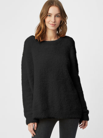 Eyelash Crewneck Sweater