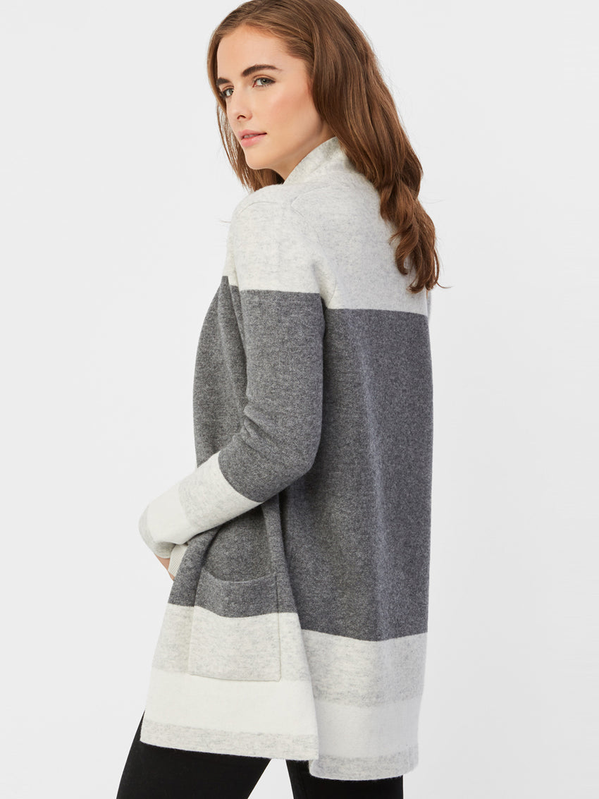 Cashmere Wool Colorblock Cardigan