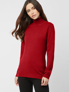 Rib Trim Turtleneck