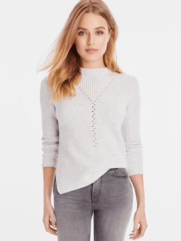 Cotton Transfer Stitch Crewneck Sweater