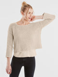 Victoria Cotton Open Stitch Cropped Sweater