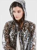 Leopard Print Transparent Rain Coat