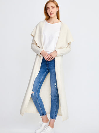 Cashmere Blend Belted Duster Cardigan