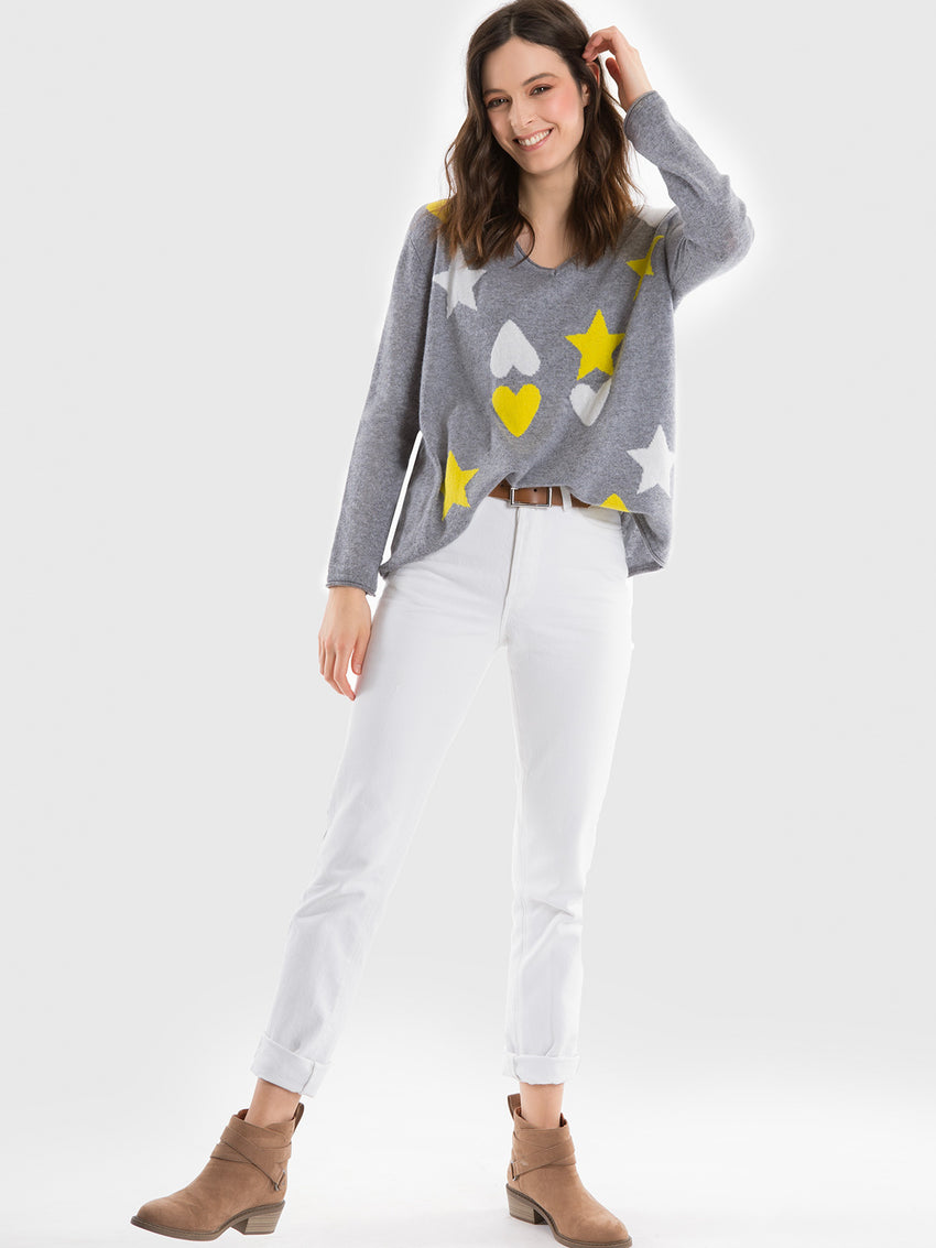 Cashmere Hearts & Stars Sweater