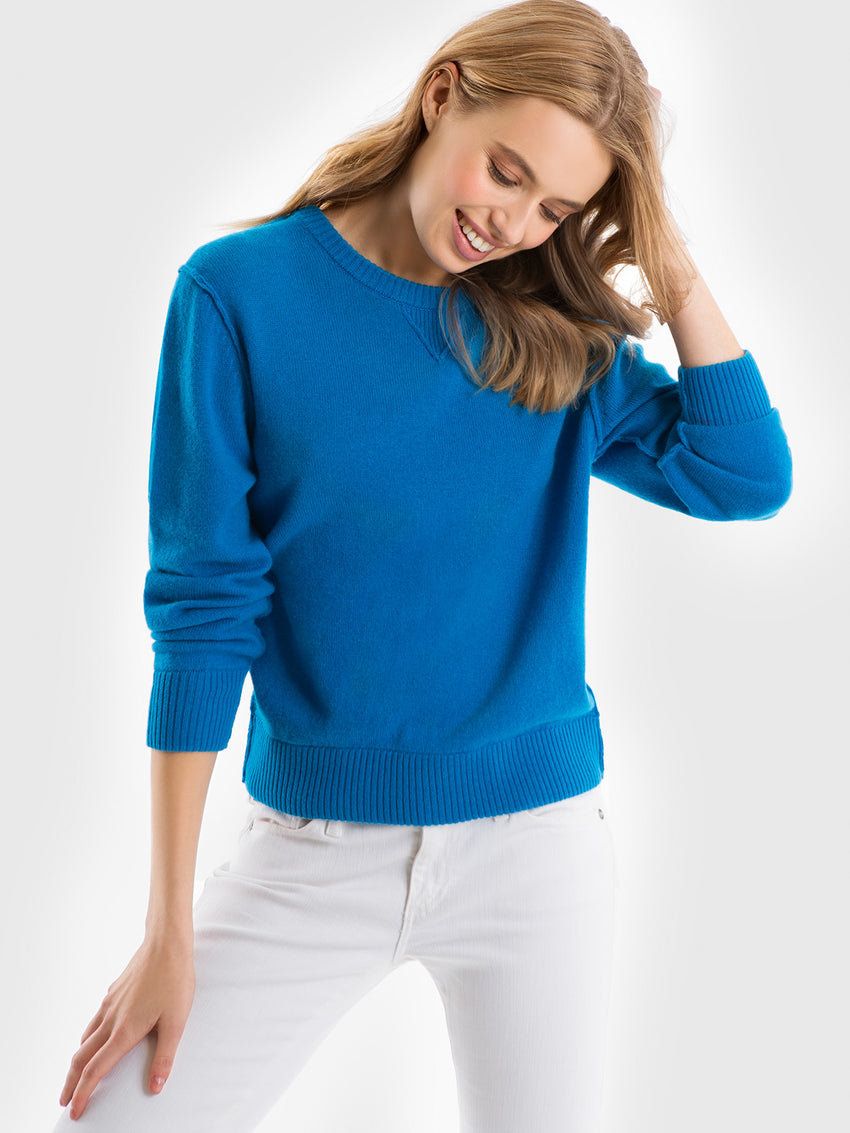Cashmere Raised Seams Sweatshirt