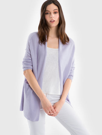 Cashmere Open Front ¾ Sleeve Cardigan