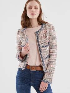 Tweed Open Front Jacket