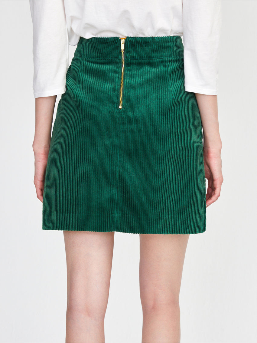 Cotton Corduroy Mini Skirt