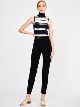 Double Knit High Waisted Pants