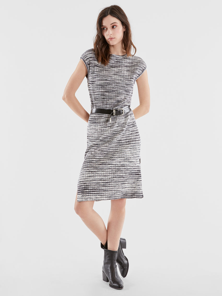 Space Dye Ribbed Knit Dress