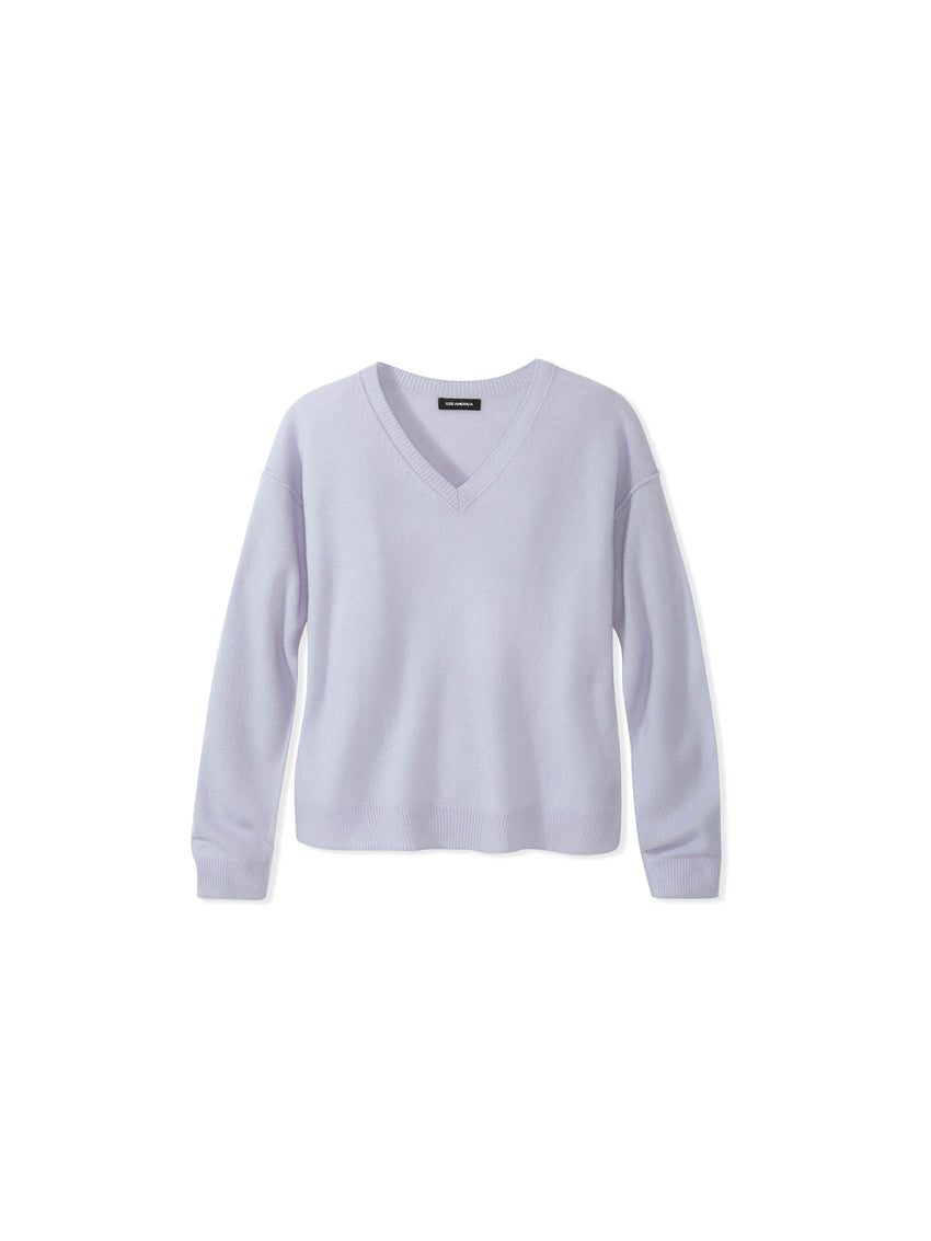 Cashmere Relaxed Fit V-Neck Sweater