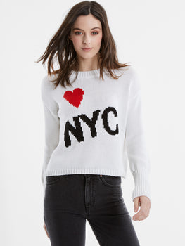Heart NYC Cotton Shaker Stitch Sweater