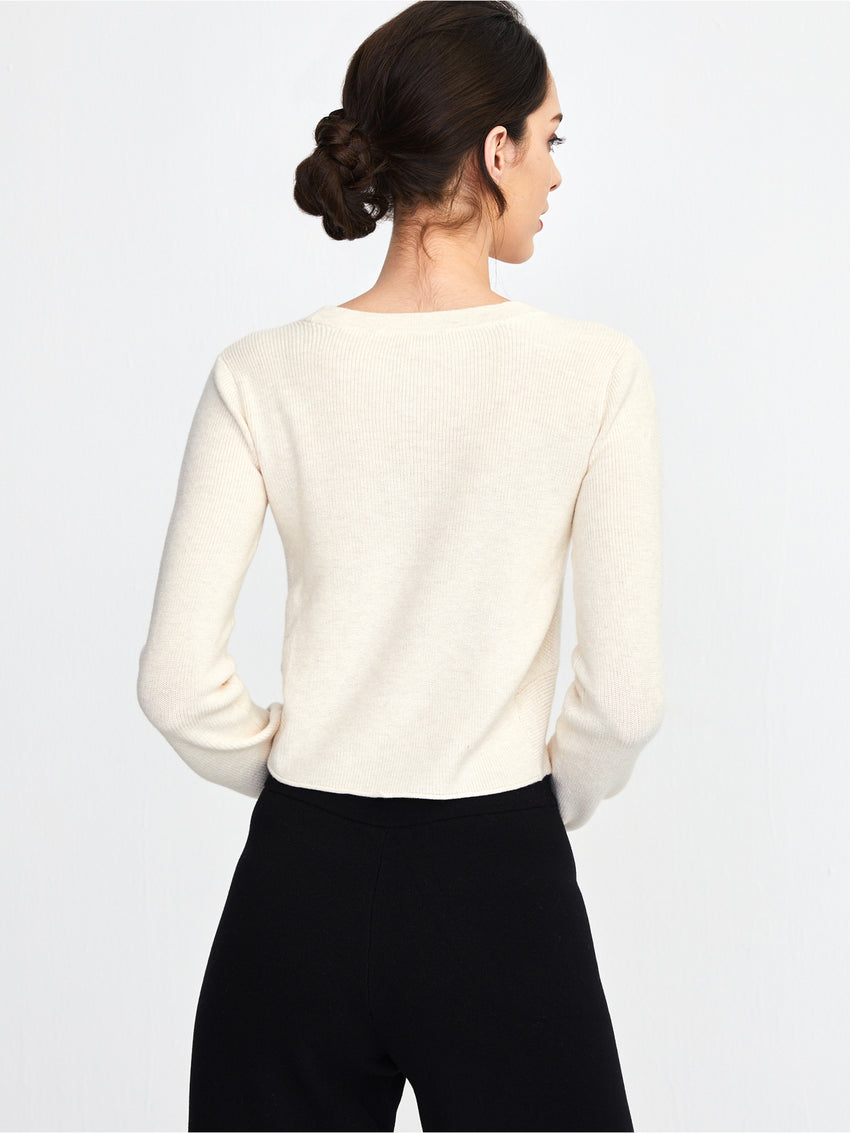 Cotton Shaker Ballet Twist Sweater