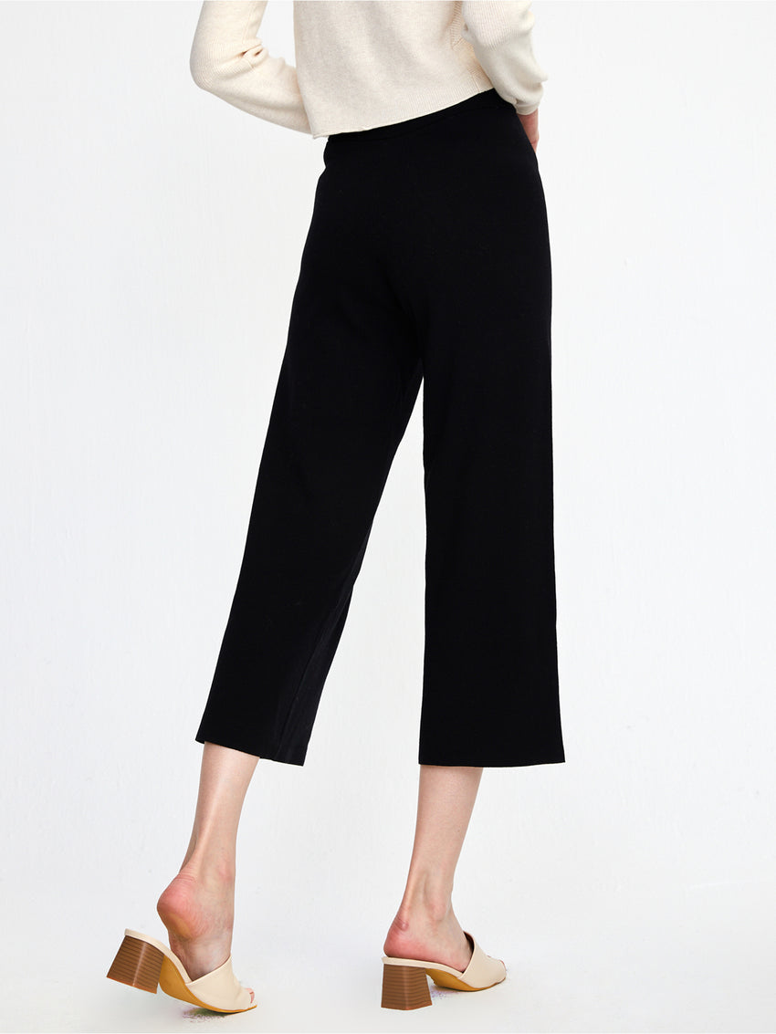 Double Knit Wide Leg Pants