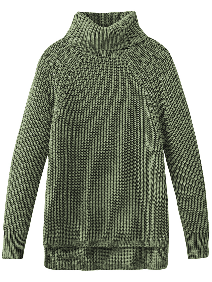 The Stella: Cotton Shaker Turtleneck Sweater