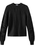 Cashmere Cropped Balloon Sleeve Sweater