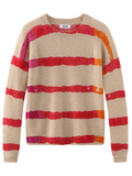 Cashmere Tie Dye Stripe Long Sleeve Sweater