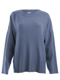 Crewneck Seam Rib Long Sleeve Sweater