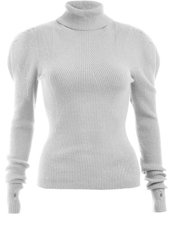 Puff Long Sleeve Turtleneck Top