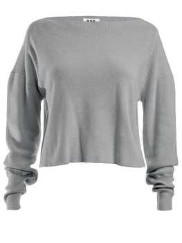 Bateau Neck Bishop Sleeve Sweater