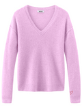 Cashmere V-Neck Long Sleeve Sweater
