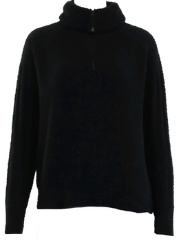 Half Zip Collared Long Sleeve Sweater