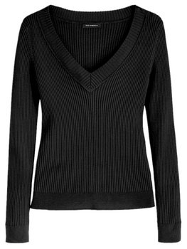 The Roxy: Wide Rib V-Neck Pullover