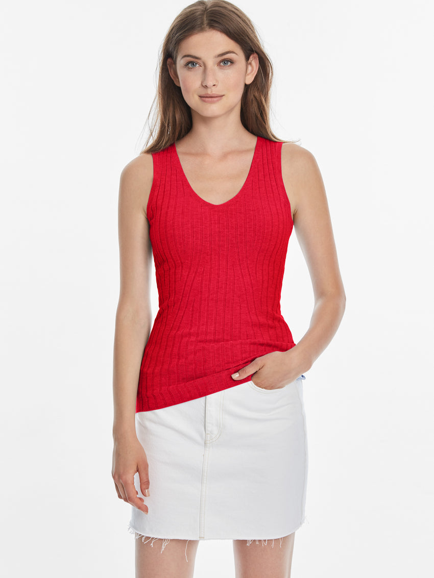 Wide Ribbed Knit Tank