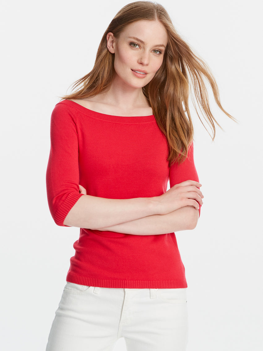 Ballet Neck Sweater Top