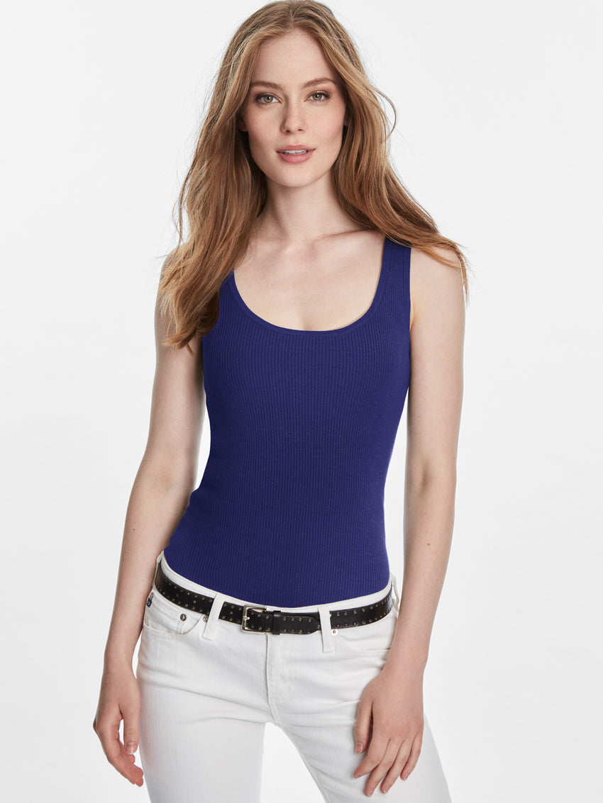 Ribbed Scoop Neck Tank