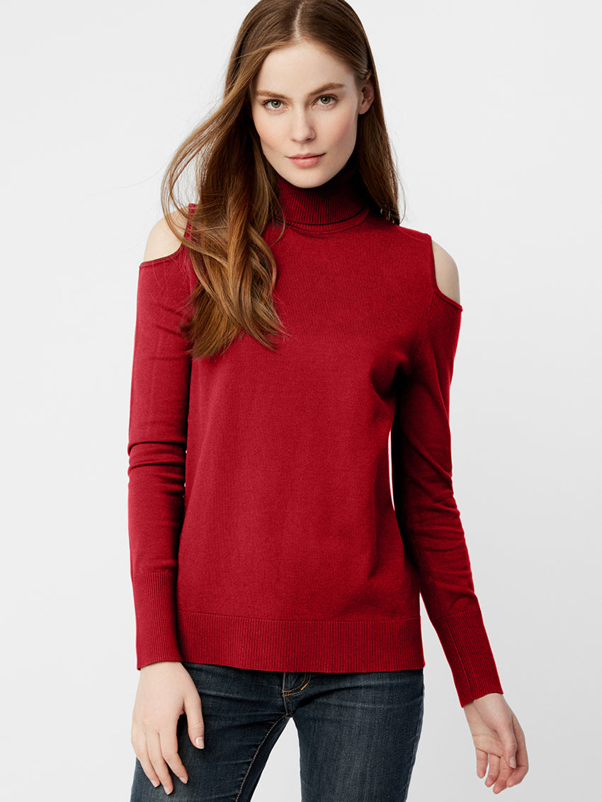 Signature Cold Shoulder Turtleneck