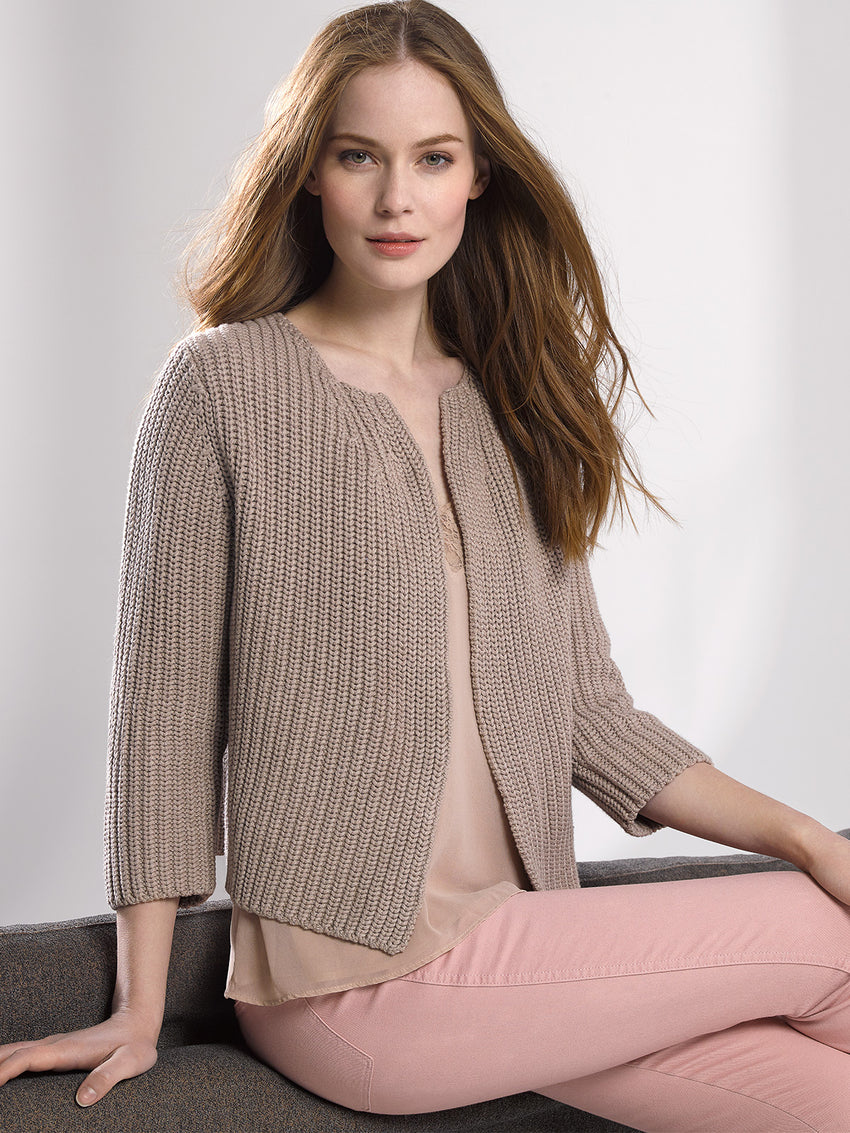 Cotton Shaker Open Cardigan